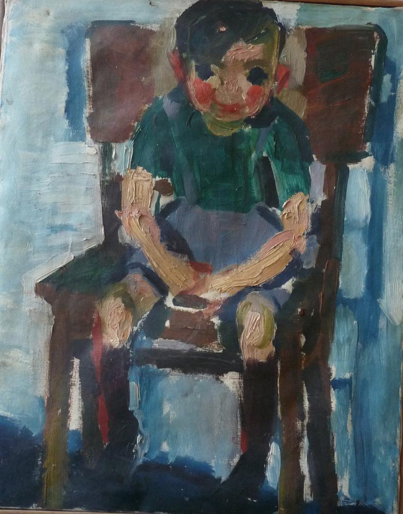 Rolf Lindemann:Junge sitzend auf Stuhl