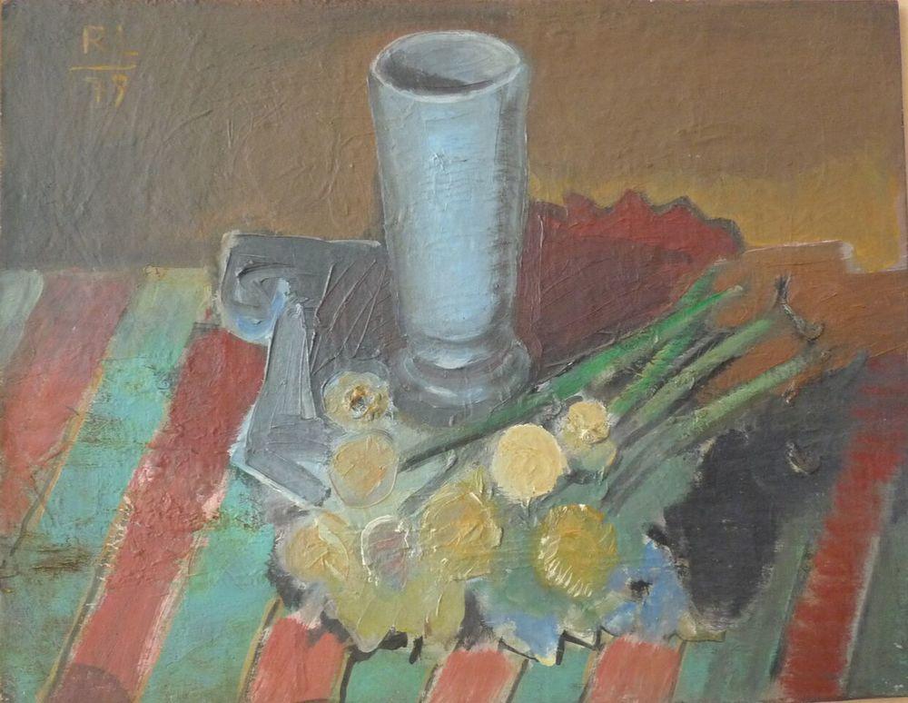 Rolf Lindemann:Stillleben mit Vase