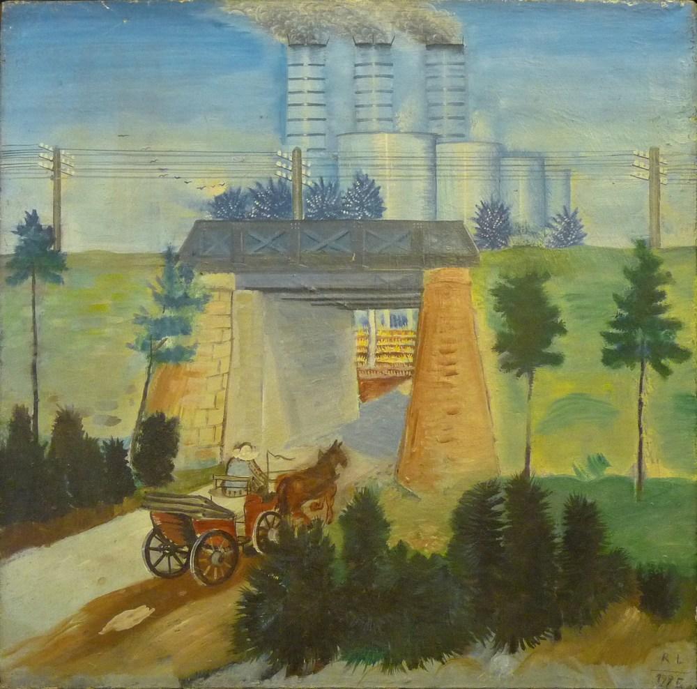 Rolf Lindemann:Kraftwerk mit Brücke