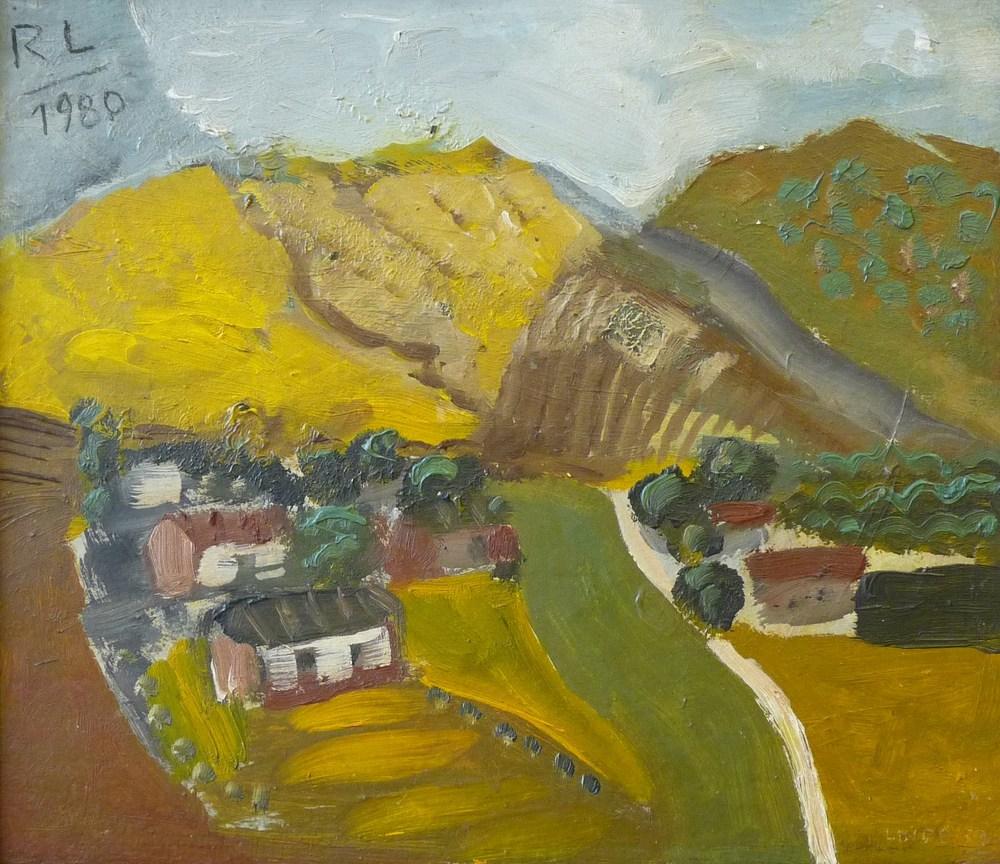 Rolf Lindemann:Bergige Landschaft