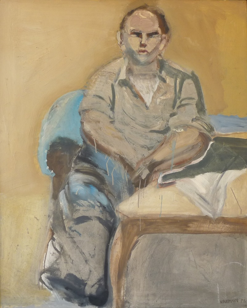 Rolf Lindemann:Junger Mann auf dem Sofa