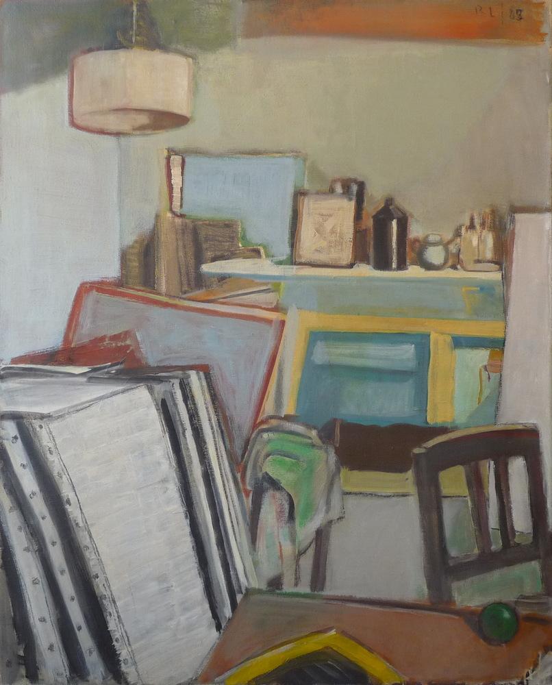 Rolf Lindemann:Atelier mit Bildern