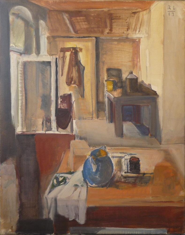 Rolf Lindemann:Atelier mit Tisch