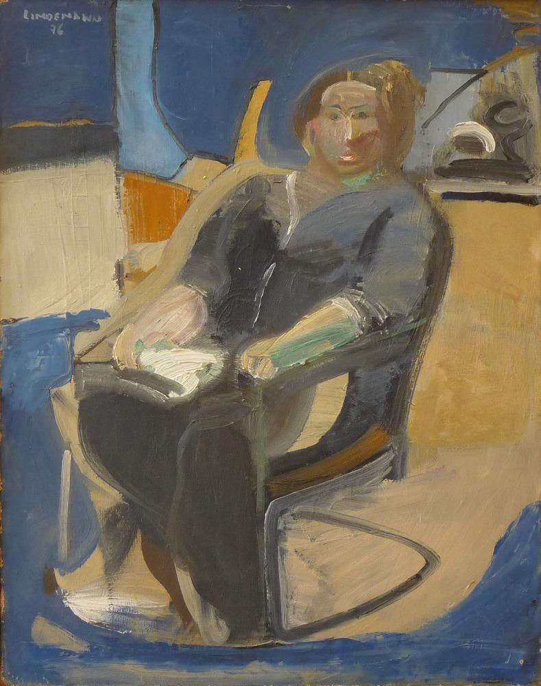 Rolf Lindemann:Sitzende Frau