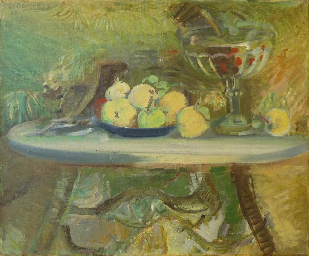 Rolf Lindemann:Äpfel im Garten