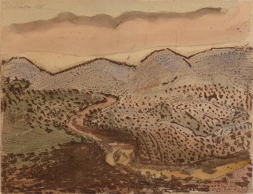 Rolf Lindemann:Gebirgige Landschaft