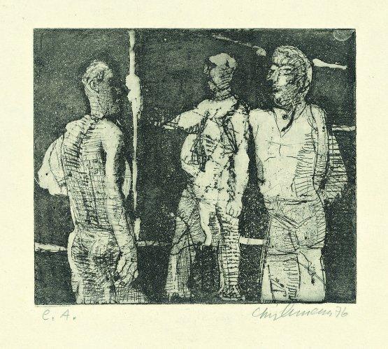 Rolf Lindemann:Drei Männer